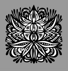 the contour of the mandala on a white background vector image