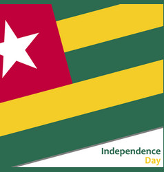 Togo independence day vector