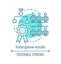 total game result concept icon vector image