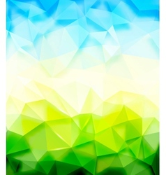 Triangle nature background vector image
