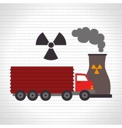 truck and reactor isolated icon design vector image