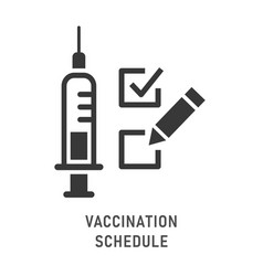 vaccinations list icon on white background vector image