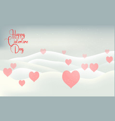valentines day snow winter light card vector image vector image