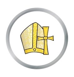 Vatican symbols icon in cartoon style isolated on vector image