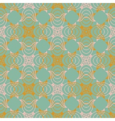 Victorian pattern in natural colors vector image