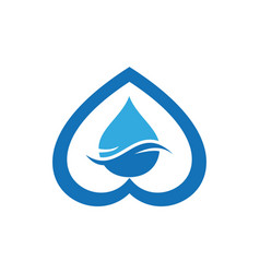 water love blue concept logo icon vector image