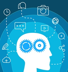 Workflow Social media concept vector