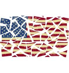 Broken-down American flag vector image