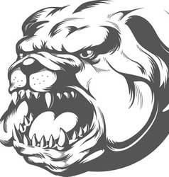 Bull Dog Silhouette vector image vector image