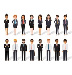 businessman and businesswoman people icon vector image