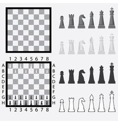 Chessboard with pieces vector image vector image