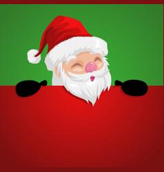 funny cartoon of a peeping santa claus vector image vector image