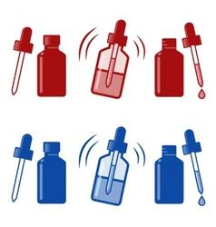 nasal drops icon vector image vector image