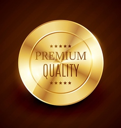 premium quality golden button design vector image vector image