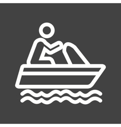 Boating vector image vector image