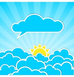 Clouds frames vector image vector image