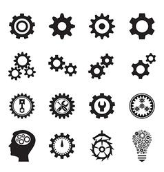 Cogwheel icons vector image