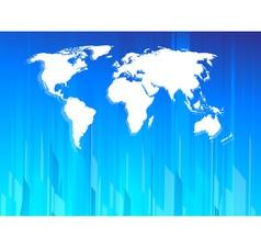 High tech earth map vector image vector image