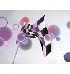 racing flag with abstract shap vector image vector image