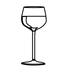 silhouette wine drink cocktail glass vector image vector image