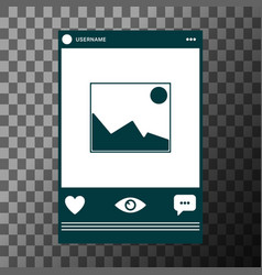 social network photo frame vector image vector image