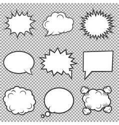 Speech bubbles collection vector image vector image