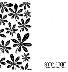 winter leaf vector image