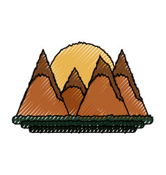 beautiful mountains landscape vector image vector image