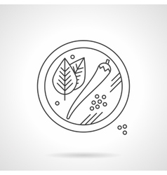 Mexican spices flat thin line icon vector image