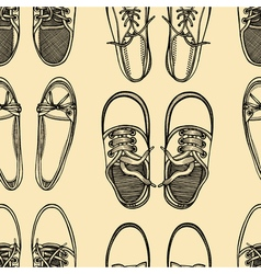 seamless pattern of shoes - sneakers vector image