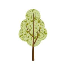 single textured tree vector image