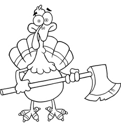 Thanksgiving cartoon vector image