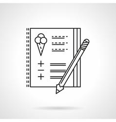 Birthday party checklist flat line icon vector image vector image