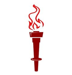 Flaming torch icon vector