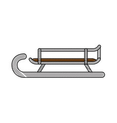 sled icon image vector image
