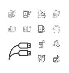 13 headphones icons vector