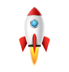 3d rocket space ship launch background realistic vector