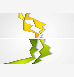 Abstract bright corporate banners design vector