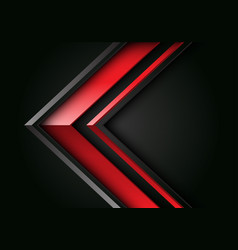 Abstract red grey line arrow 3d direction black vector