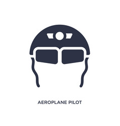 Aeroplane pilot glasses icon on white background vector