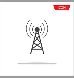 Antenna icon symbols on white background vector