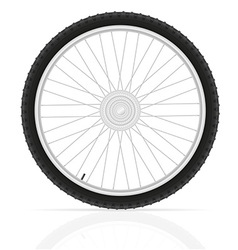bicycle wheel 02 vector image