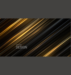 Black and golden sliced surface vector