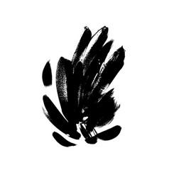 Black brushstrokes hand drawn vector