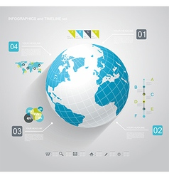 Blue Globe and business strategy vector
