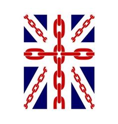 British flag t shirt typography chain vector