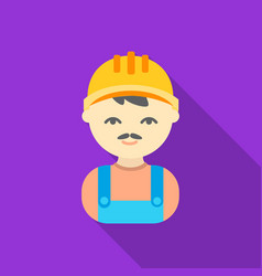 builder flat icon for web and mobile vector image
