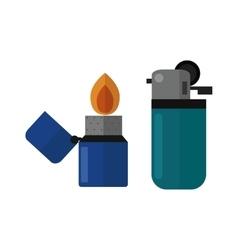 Burning lighters vector