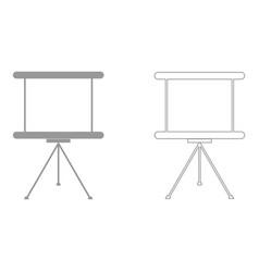 Business presentation board the grey set icon vector