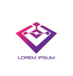 business technology logo image vector image